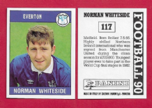 Everton Norman Whiteside Northern Ireland 117